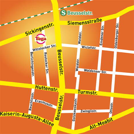 Stadtplan YogaMoabit